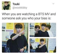Tries to say J-Hope. Sees Jungkook. Sees Yoongi. Sees Namjoon. Sees Jimin. Sees Taehyung. Sees Jin. Gives up.