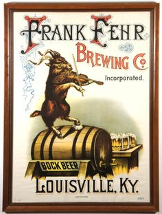 Beer In Ads Fiddler On The Bock Barrel - Brookston Beer Bulletin Vintage Beer Signs, Vintage Ads, Vintage Posters, Old Beer Cans, Beer Poster, Beer Art, Beer Brands, Home Brewing Beer, Wine And Beer