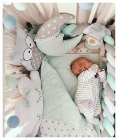 Baby pillow side in bed pillow set for a newborn sheets canopy cotton garland cloud owl bear baby room Baby Bedroom, Baby Boy Rooms, Baby Room Decor, Baby Boy Nurseries, Baby Boys, Baby Pillow Set, Cloud Pillow, Pinterest Baby, Conceiving A Boy