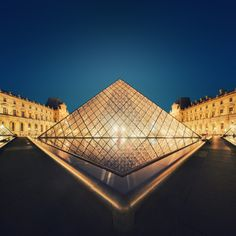 Musée du Louvre, Paris, France.  In 1983, French President François Mitterrand proposed, as one of the Grands Projets of François Mitterrand the Grand Louvre plan to renovate the building and relocate the Finance Ministry, allowing displays throughout the building. Architect I. M. Pei was awarded the project and proposed a glass pyramid to stand over a new entrance in the main court, the Cour Napoléon. The pyramid and its underground lobby were inaugurated on 15 October 1988. #JetsetterCurator