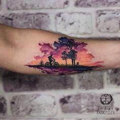 Tattoo by @koray_karagozler  ___ www.EQUILΔTTERΔ.com ___  #Equilattera  #️⃣#love #tattoo #tattoos #tat #tatuaje #miamitattoos #miamitattoo #miamitattooshop #miami #mia #miamibeach #wynwood #miamiart #illustration #silhouette #colorful #watercolor #design #sunset #drawing #sketch #watercolortattoo #bicycle #inked  #tattoodesign #tattooed #ink #art #avantgarde