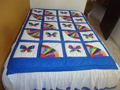 patchwork: colcha de mariposas y técnica dresden