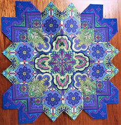 I have this fabric and now I know what to do with it! Quilting Tips, Quilting Projects, Quilting Designs, Jersey Quilt, Millefiori Quilts, Cross Quilt, Quilt Of Valor, Colorful Quilts, Hexagon Quilt