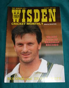 wisden cricket monthly magazine.august 1989.steve waugh.free uk p from $7.12