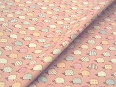 小物雑貨の制作に!ハリネズミのミニ柄 コットンオックスプリント 115cm巾 綿100% - そーいんぐ・すていしょん コミニカ