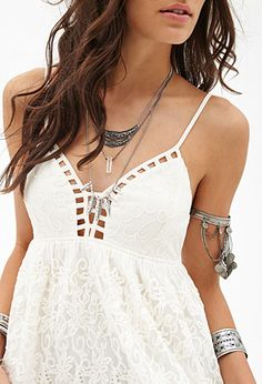 Crocheted Babydoll Cami | FOREVER21 - 2000069159
