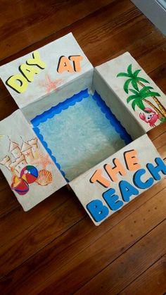 Beach themed care package for my military boyfriend