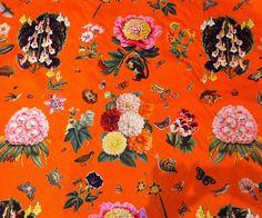 // Black & Spiro Botanical Print Fabric