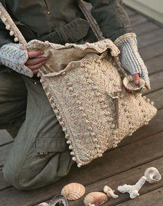 Knitting beachcomber bag   mittens-no pattern e2308beab1b9c