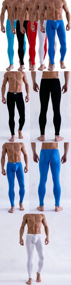Men's Solid Color Underpants Men's Clothing Slim Low Rise Underwear Long Johns Pants Plus Size New Sale