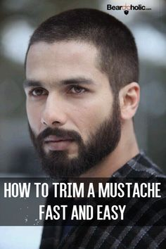 How To Trim A Mustache Fast And Easy - Beard Grooming Tips From Beardoholic.com