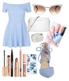 """""""periwinkle"""" by tamanna56 ❤ liked on Polyvore featuring New Look, Kristin Cavallari, Michael Kors, Gucci, Sonix, Charlotte Russe, Dolce Vita, Trish McEvoy, Charlotte Tilbury and Summer"""