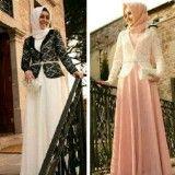 Contoh Model Desain Baju Muslim Brokat Terbaru 2015 3 - Busana Muslim Menutup Aurat ke Pesta 2015
