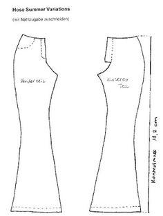 Arte e Croche: A pattern for Barbie pants.