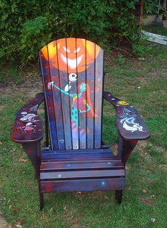 Nightmare Before Christmas Painted Adirondack Chair 500.00