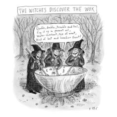 size: Premium Giclee Print: Theater New Yorker Cartoons Art Print by Roz Chast : Entertainment Halloween Cartoons, Halloween Humor, New Yorker Cartoons, Cartoon Posters, Cartoon Art, Cartoon Witch, Cartoon Quotes, Fall Halloween, Happy Halloween