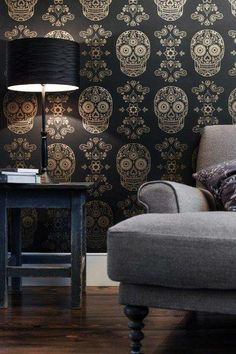 Sugar skull wallpaper.