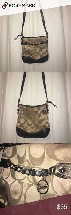 Coach Shoulder/Cross Body Purse Small Cross-Body/Shoulder purse; rarely used; great condition; deep, so it can fit a lot of items; authentic Coach Coach Bags Crossbody Bags