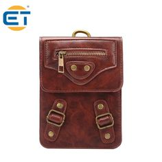 New Multifunctional mini 6 inch small PU leather Pocket Waist packs Purse with Mountaineering buckle