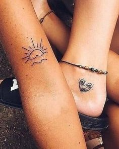 The best collection of cute friendship tattoos ideas for ladies. If you have a best friend you must see those best friend tattoos ideas and get them! Cute Small Tattoos, Small Tattoo Designs, Little Tattoos, Mini Tattoos, Love Tattoos, Body Art Tattoos, New Tattoos, Tattoos For Guys, Tattoos For Women