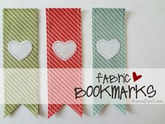 Pretty fabric bookmarks that would be easy to make.