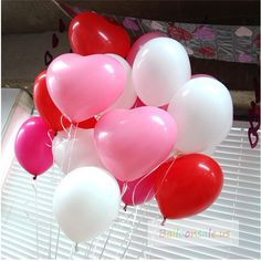 "5 11/"" Entwined Hearts Quality Latex Balloons Wedding Party Decorations Helium"