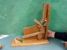 Woodworking Projects For Kids, Woodworking Crafts, Cool Diy Projects, Projects To Try, Marble Machine, Wooden Playset, Candy Dispenser, Gumball Machine, Toy Craft