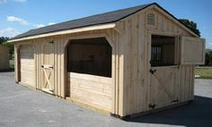 Run In Stall combo 12x28 with 2-12x10 stalls and 1-8x12 storage/tack room ($5950) ✔️ don't need any more