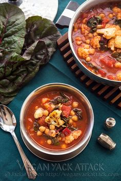 Roasted Cauliflower Tomato Soup #vegan and #lowfat!