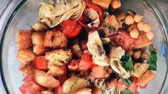 Stephanie & Tony's Table: Artichoke Bread Salad « CBS New York