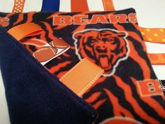 Chicago Bears Unisex Baby Fleece Tag Blanket  Ribbon by tbllovies, $10.50
