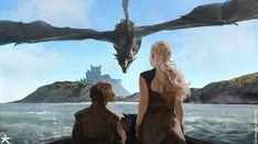 Tyrion and Daenerys sees Dragonstone - Karakter Design Studio