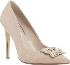 Dune Breanna Jewelled Broche Pointed Toe Courts - for Women