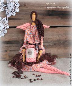 Куклы Тильды ручной работы. Ярмарка Мастеров - ручная работа Фея кофе и шоколада Мишель.. Handmade.