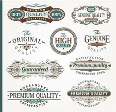 9 Green and Brown Decorative Design Elements by DecorativeClipart