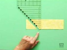 This all-purpose ruler is quite possibly the only ruler quilters will ever need. Cut all commonly used quiltmaking shapes with the All-in-One Ruler.