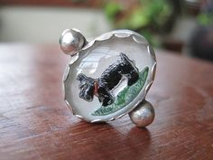 Handmade Scottie Dog Ring in Sterling Silver by AutopilotEmpires