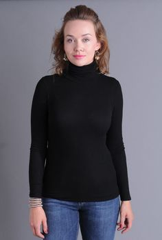 Long and lean, this Three Dots ribbed turtleneck is incredibly soft and smooth. A top choice for layering under a blazer or cardigan to keep you warm. Three Dots, Ribbed Turtleneck, Tee Shirts, Tees, Every Woman, Turtlenecks, Layering, Third, Fitness