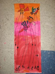 1st Grade Dali Birds: learn about Dali, use blending technique in the background w/ warm or cool colors, draw Dali inspired birds w/ a patterned body