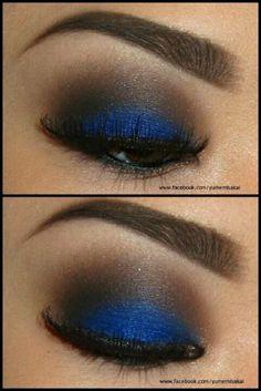Beautiful blue smoked eye