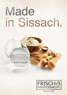 Arbeit für die Hausbäckereien der Migros in der Nordwestschweiz #Migros #Frisch Basel, Baker Man, Bread Baking, Food, Advertising Agency, Fresh, Baking, Eten, Meals