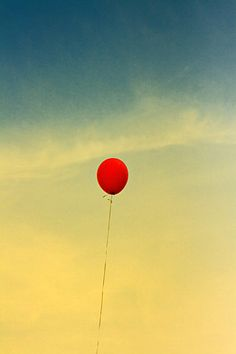 red balloon. It's my symbol! I've always thought of a red balloon as letting go, and being yourself. I love the red balloon! So me!