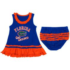 Girls Infant Florida Gators Royal Blue Coda Ruffle Tank Dress