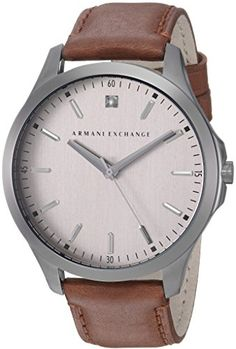 Armani Exchange Mens AX2195 Gunmetal Brown Leather Watch   Find out more  about the great product 15ea95c6fd