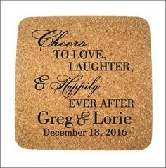 200 Wedding Favors Custom Personalized Square Cork by Factory21
