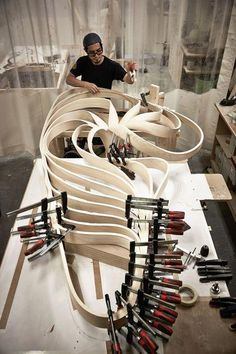 Woodworking Equipment Joseph Walsh: Genius Furniture Maker and Artist, Now on Display in New York City – Part 2 - Popular Woodworking Magazine Woodworking For Kids, Woodworking Workbench, Popular Woodworking, Woodworking Furniture, Woodworking Projects Plans, Wood Furniture, Furniture Design, Woodworking Equipment, Woodworking Machinery