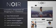 Download and review of Noir - Blog & Shop WordPress Theme, one of the best Themeforest Magazine & Blogs themes {Download & review at|Review and download at} {|-> }http://best-wordpress-theme.net/noir-shop-download-review/