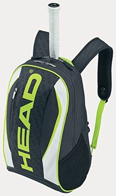 653104d2dac Head Extreme Backpack Tennis Racquet Bag-Lime Green White Black Head  Extreme Backpack