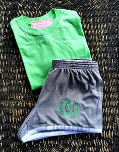 Women's Monogrammed Shorts