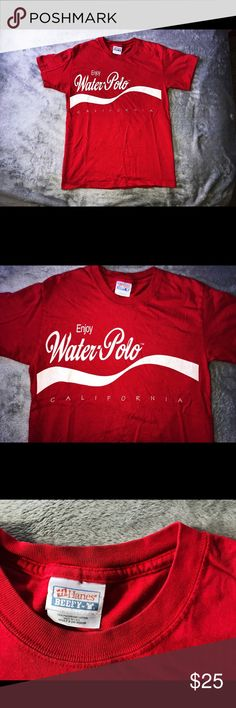 d2c43bd1e California Water Polo VINTAGE T Shirt This Coke inspired red T-Shirt  features the same